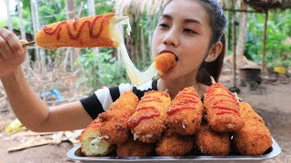 Yummy cooking crispy hot dog with cheese recipe - Cooking skill