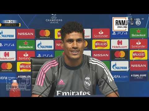 Rueda de prensa previa de VARANE Manchester City vs. Real Madrid (06/08/2020)