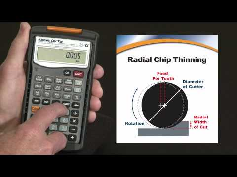 Machinist Calc Pro - Machinist Calc Pro Feed and Speed Radial Chip Thinning How To Calculate