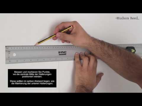 Anleitung zur Aufhängung eines Vertikalen Heizkörpers mit Mittelanschluss 50mm