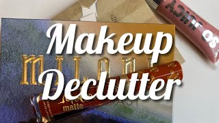 MAKEUP DECLUTTER//Expired Lip Products And Eyeshadow Palettes!