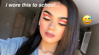 I wore dramatic makeup to school and this is what happened...