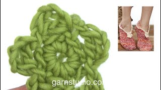 How To Crochet The Little Flower In DROPS 148-30