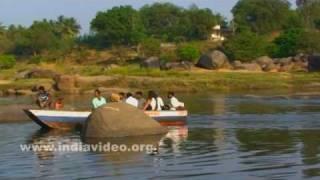 Holy bath in Tungabhadra
