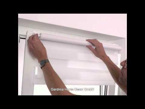 Video Gardinia Roleta easyfix dvojitá krémová, 90 x 220 cm 1