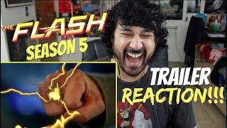 THE FLASH Season 5 Comic-Con TRAILER REACTION!!!