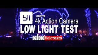 Xiaomi YI 4k I Low Light test I Avent Zagreb