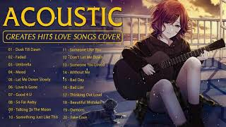 Greatest Hits English Acoustic Love Songs 2021 - Best Guitar Cover of Popular Songs Of All Time