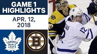 Stanley Cup 2017/2018 Toronto Maple Leafs vs Boston Bruins Game 1 Apr 12, 2018