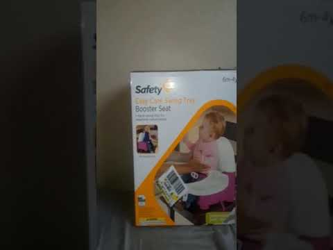 How to put together Safety 1st easy care swing tray booster seat & review