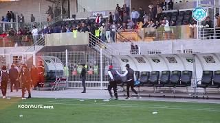 غضبة ودادية عارمة على اللاعبين بعد الهزيمة أمام ي. برشيد و تدخّل الأمن لفتح المجال أمامهم