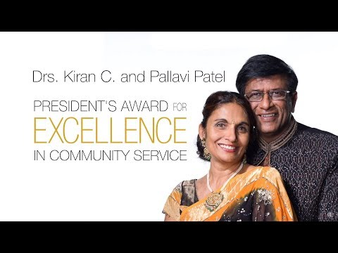 Drs. Kiran C. & Pallavi Patel Receive 2018 NSU President's Award for Excellence in Community Service