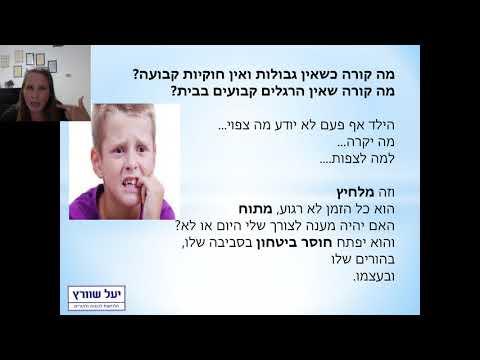 למה חייבים להציב גבולות ברורים לילדים?- יעל שוורץ