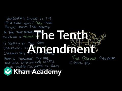 87a82c8e149 The Tenth Amendment (video)
