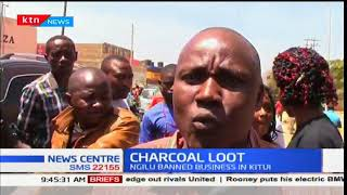Mwingi residents barricade road and loot charcoal from lorry