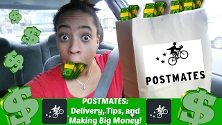Driving with POSTMATES:Delivery App, Tips, And Making Big Money!