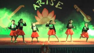 Dance Performance Of Grade 1 To 12 In Annual Function At Aadharshila CBSE School