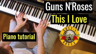 "Tutorial: Guns N'Roses - ""This I Love"" / Evgeny Alexeev, Piano"