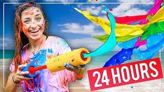 GiANT PAiNT SLiDE! | We Tried 10 FUN Summer Activities in 24 HOURS!