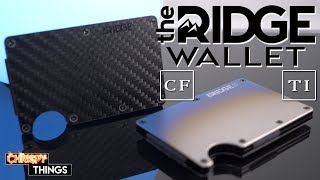 The Ridge Wallet: Burnt Titanium & Carbon Fiber- Why they are the BEST MINIMALIST WALLETS available!