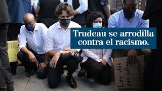 Justin Trudeau se arrodilla en apoyo a las protestas contra el racismo en EEUU