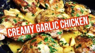 Creamy Garlic Chicken Recipe ( Easy )