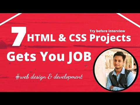 HTML & CSS Projects that Gets a Job   7 Projects to Get Selected in an Interview that leads a👌 JOB