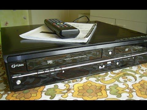 Funktionsprüfung Funai WD6D-D4413DB DVD-Recorder / VHS-Videorecorder