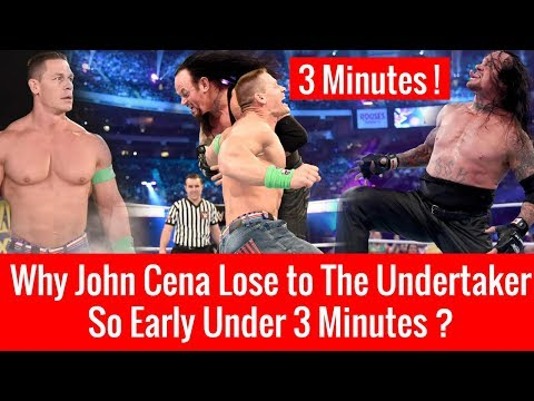 Why The Undertaker Defeats John Cena Quickly Wrestlemania 34 ? John Cena Vs The Undertaker Match !