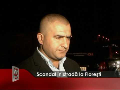 Scandal in strada la Floresti