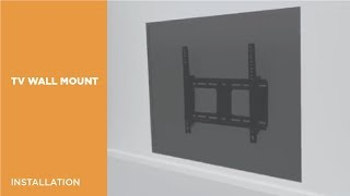 LP38-44T Classic Heavy-duty Tilting Curved & Flat Panel TV Wall Mount Installation Video