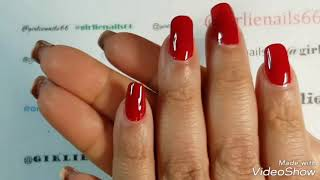 How To Get A Pillar Box Red Nail Design At Home