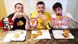 POPEYES vs KFC vs CHICK-FIL-A CHICKEN SANDWICH! *Which is better?*