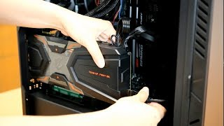 How to Install AORUS GTX 1080 Ti Waterforce Graphics Card Vertically in AC300W Case