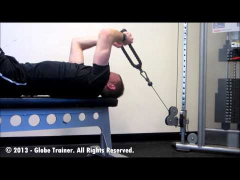 Lying Cable Tricep Rope Extension
