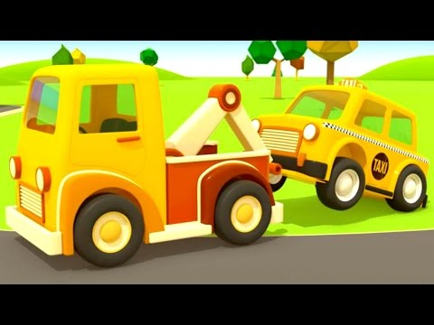 Helper cars. Car cartoon and animation for kids. An ambulance and a tow truck. Songs for kids.