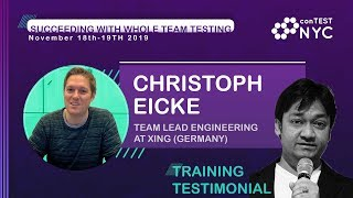 Workshop Testimonial by Christoph Eicke