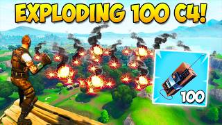 EXPLODING 100 C4! - What Happens? - Fortnite Funny Fails and WTF Moments! #222 (Daily Moments)