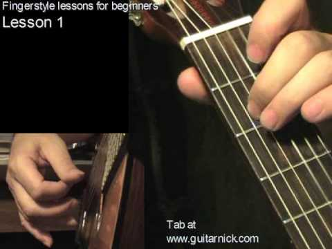 Fingerstyle guitar lesson 1 + TAB, free online course