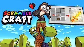Minecraft BUT Every STEP = Spawning ZOMBIES!? (Scramble Craft #2)