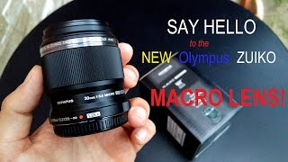The newest Olympus M.Zuiko 30 mm Macro f/3.5 lens 2016 (AF test on the Pen F & OM-D)