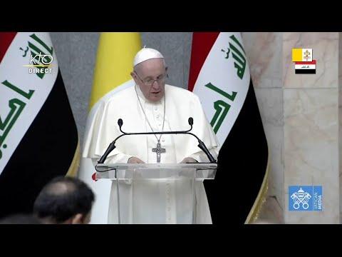 Rencontre du pape François avec les autorités et la société civile irakienne