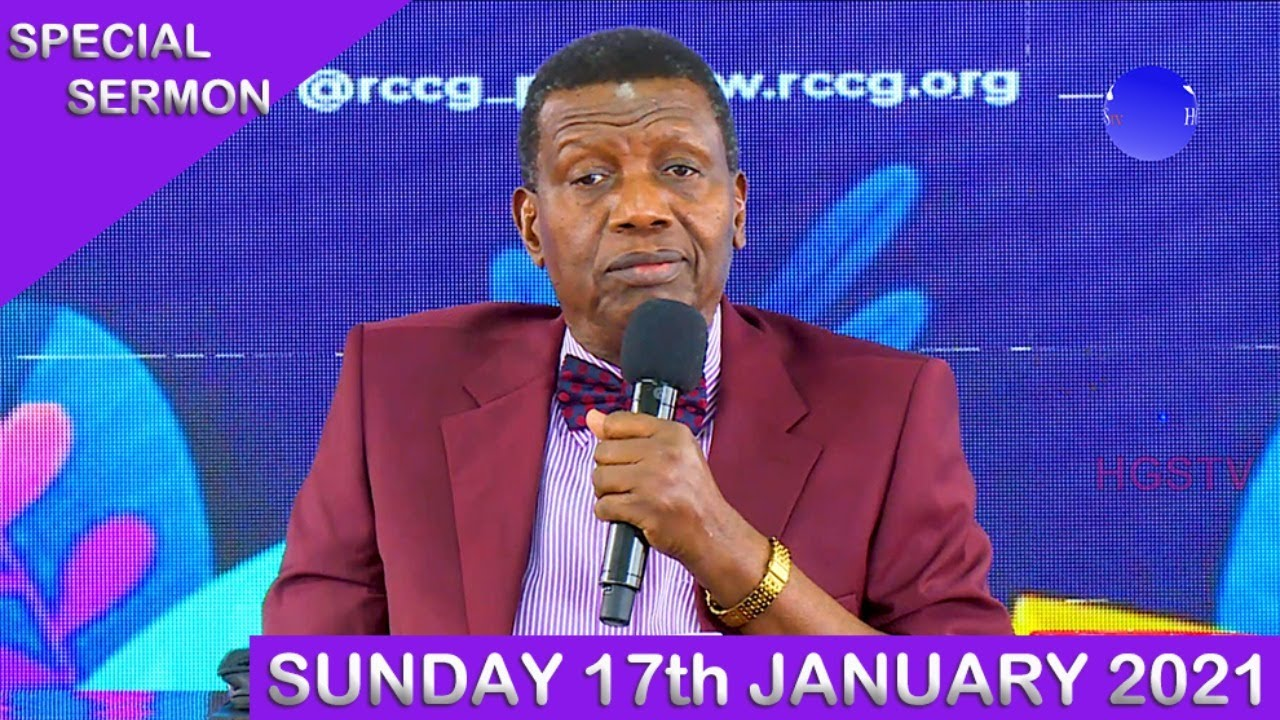 RCCG Sunday Service 17th January 2021 Live with Pastor E. A. Adeboye