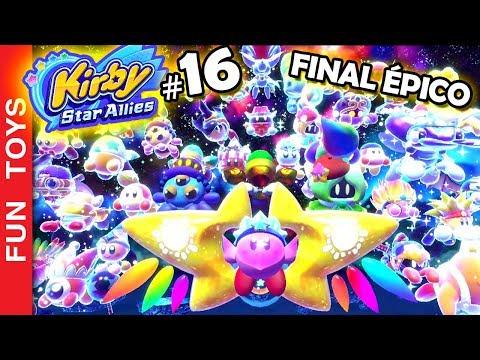 Kirby Star Allies #16 ⭐️ FINAL ÉPICO com um CHEFÃO GIGANTE se RECUSA a MORRER! Gameplay IRADO! PT-BR
