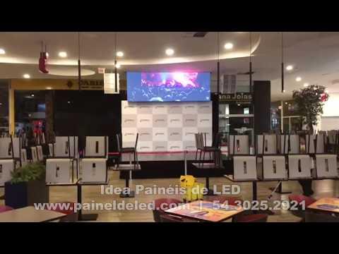 Painel de LED Retrátil em Shopping P4.8 SMD 4x2 Idea Painéis