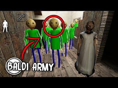 100 Baldi's Basics CLONES in Granny Horror Game... (Baldi's Basics in Granny Mobile Horror Game) (видео)