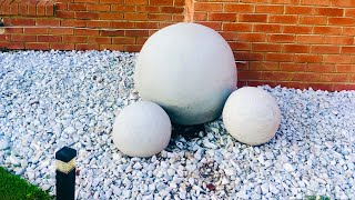 DIY Concrete Garden  Sphere Step By Step Instructions On A Budget With Quikrete