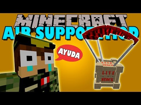 AIR SUPPORT MOD - Apoyo Aereo en minecraft! - Minecraft mod 1.12.2 Review ESPAÑOL