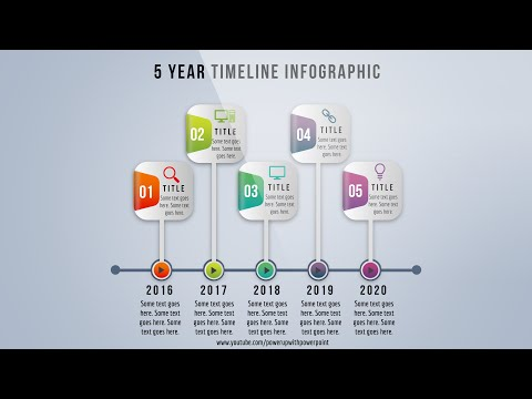 9 create 5 year timeline infographic powerpoint presentation graphic
