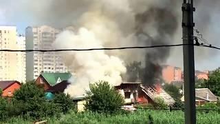 Пожар в Пашковке , частный дом, 25.06.2017. Ул. 1 мая